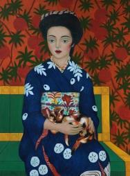 Geisha and cat (Mary Caspar)