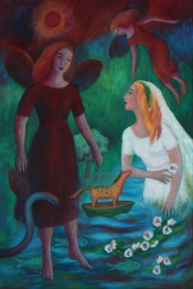 Bride and angels (Mary Caspar)
