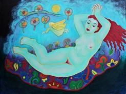 Barely reclining nude (Mary Caspar)