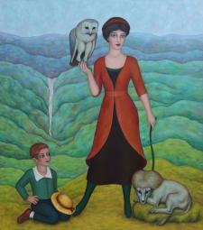 Woman with Owl (Mary Caspar)
