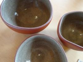 Ash glaze bowls