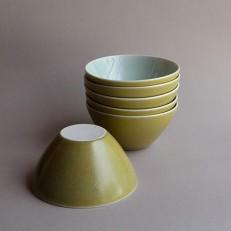 Celadon satin bowls