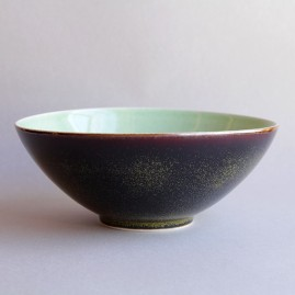 Chrome tea dust bowl