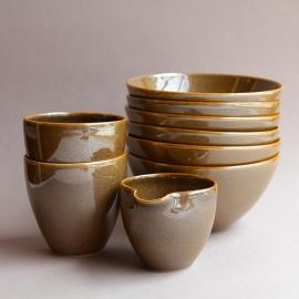 3Shino_cups bowls pourer set