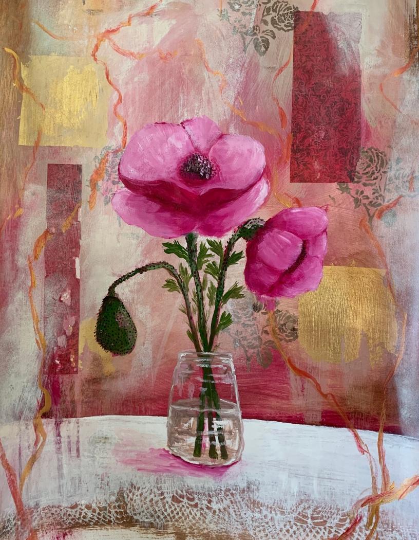 Poppy on paper crop